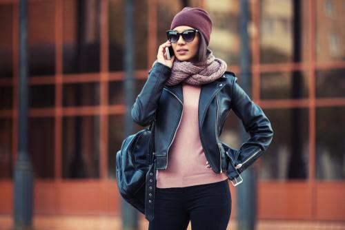 Woman wearing sunglasses outside after LASIK